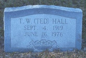 Gravestone of Theodore Woodrow Hall