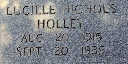 Grave of Lucille Holley