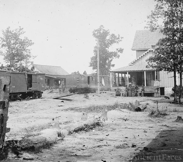 [Catlett's Station, Va. The station with U.S. military...