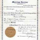 Henrietta E. Mordue marriage license