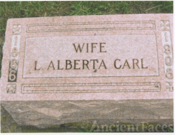 The Tombstone of Loris Alberta (Dougherty) Carl (1866-1930)