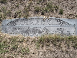 Gravesite of Ham & Jewell  Hardy
