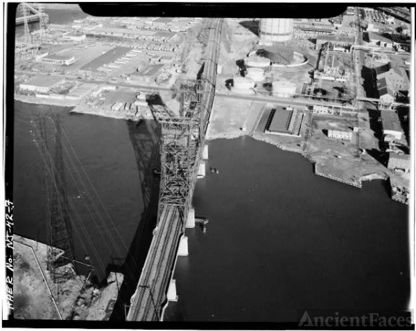 2. AERIAL VIEW OF THE VERTICAL LIFT BRIDGE FROM THE...