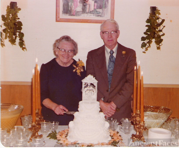 50th Anniversary - John & Lillian (Curtis) Wright