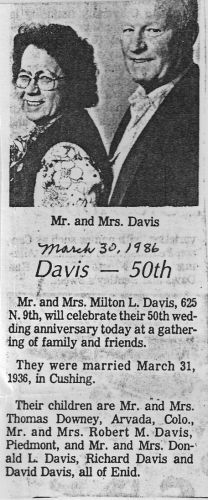 Anna (Becker) Davis and Milton Davis
