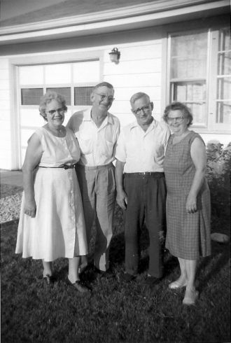 Louis and Mary, and Charles and Myrtle Kropp