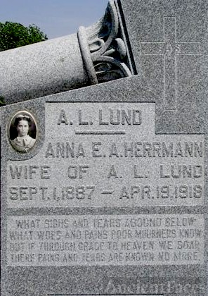 ANNA LUND GRAVESITE: OSTERLAK-HERRMANN DAUGHTER