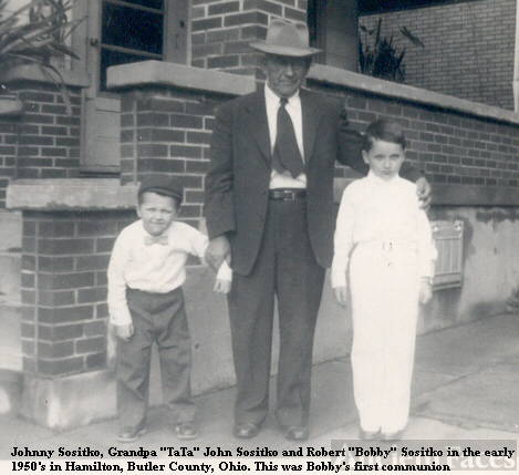 John Sositko with grandsons