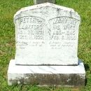 Tombstone of Peter  & Mary Ann (Frost) Lankford
