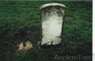The Original Tombstone of Ahijah W. Grimes, Lawman Killed 19 July 1878 By Sam Bass & His Gang