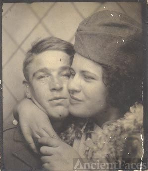 Man and woman (Photo booth photo?)