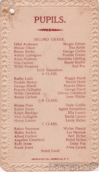 Nebraska Pupils List, @1914