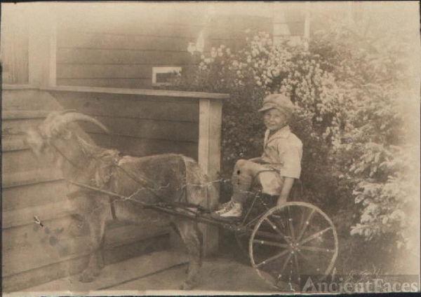 "William  ""Bill"" Morton & Pet Goat"
