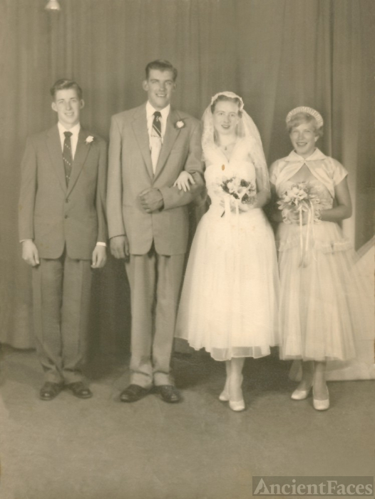 Mum as a bridesmaid for Bob and Doris Kraus