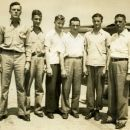 Harold Byerly with students 1942