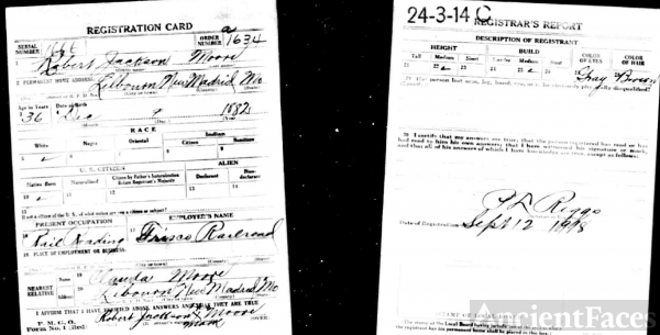 Robert Jackson Moore WWI Draft Registration