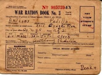 War ration Card