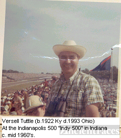 Versell Tuttle at the Indy 500