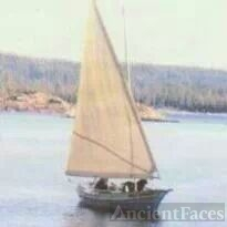 Blaine Wishart's yellow sail boat