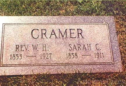 Headstone of Rev W.H. Cramer and wife