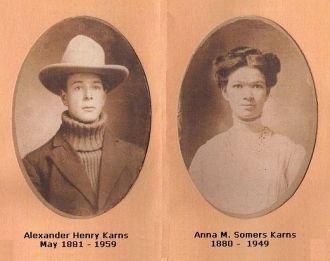 Alexander Henry Karns and Anna Somers Karns