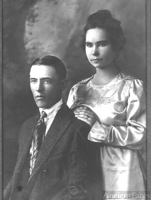 Jesse Evans Myers and Agnes Eastland Wedding Photo