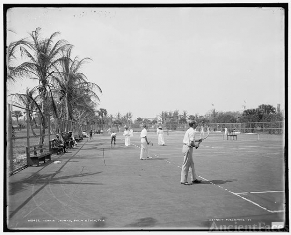 Tennis courts, Palm Beach, Fla.