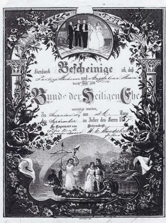 Hartman,Henn Marriage certificate