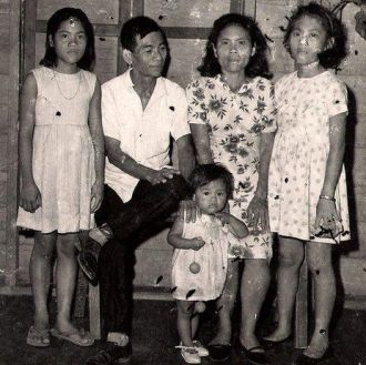 Garcia Family,Palo, Leyte Eastern Visayas Philippines 1960's