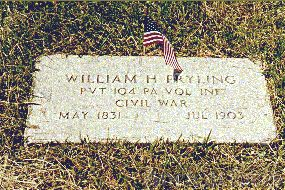 Grave Marker - Pvt. William H. Fryling