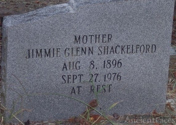 """Great Grandma Jimmie Glenn's Tombstone"""