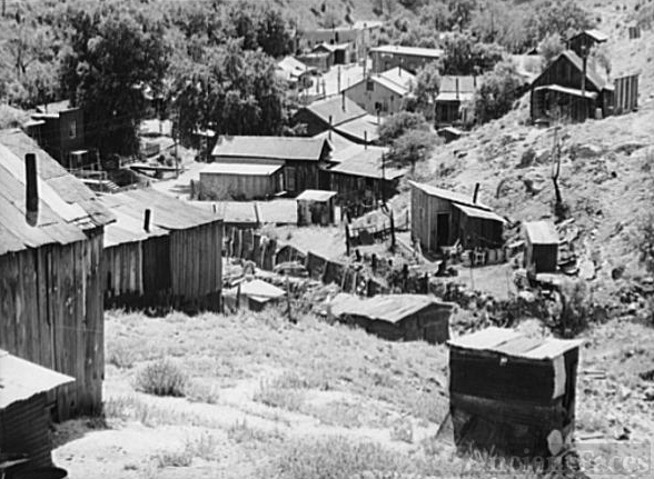 Miners' homes at Mogollon, New Mexico