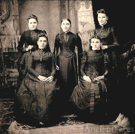 Five daughters of Jasper Mallory