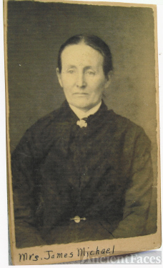 Mrs. James M. (Sarah A. Marks) Michael (4 Feb 1842-14 July 1904)