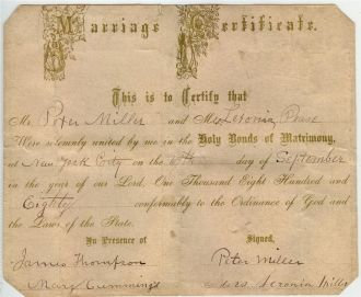 Peter and Leronia marriage cert.
