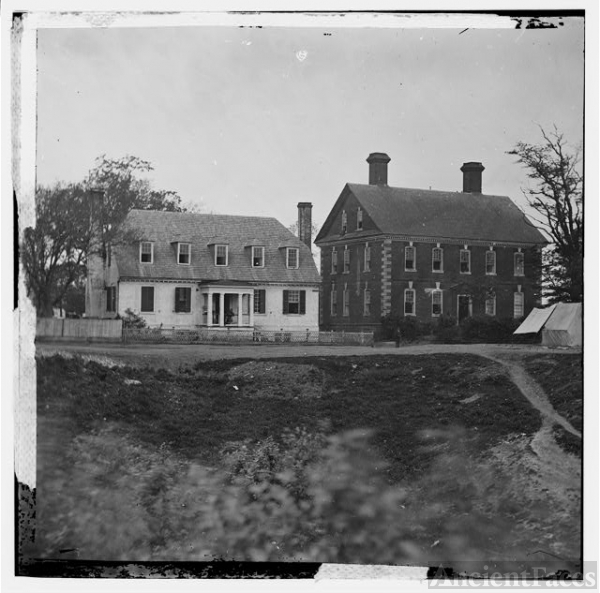 [Yorktown, Va. Thomas Nelson house (right), used as a...