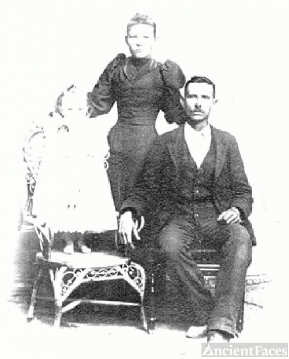 Andrew Jackson Gray, wife, daughter