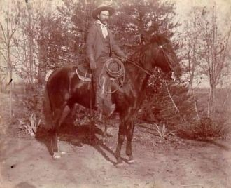 "Henry ""Fred"" Fowler on Horse"