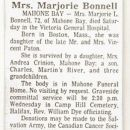 Marjorie Bonnell's  Obituary