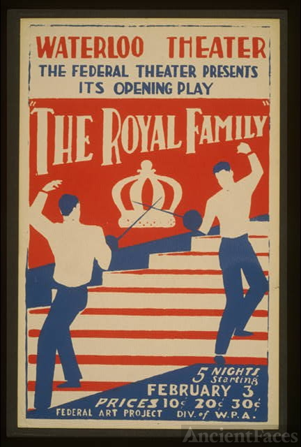 "The Federal Theater presents its opening play ""The royal..."