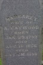 "Gravestone of Margaret ""Peggy"" Foster Caywood"