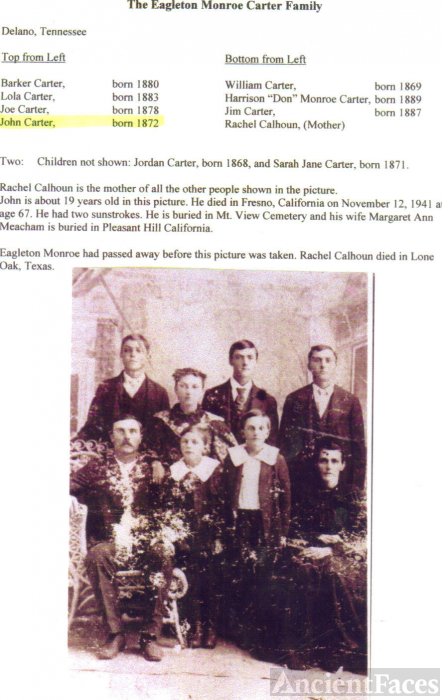 Eagleton Monroe Carter Family