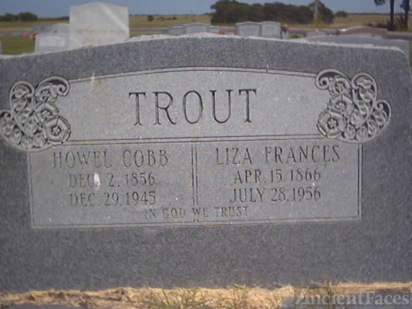 Howell Cobb Trout Headstone