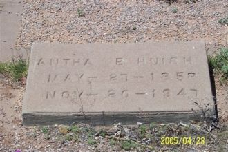 Antha E. Huish of Headstone