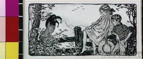 [Puck with girl and boy]