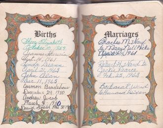Mary Jean Ward Sylvestre Family Bible