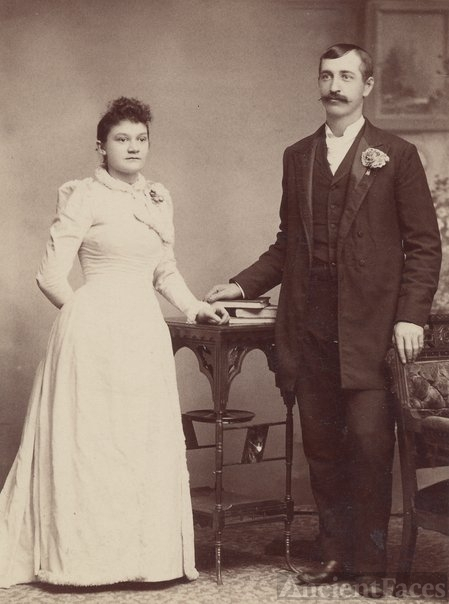 Frank & Ida (Hildebrandt) Haraden, marriage portrait