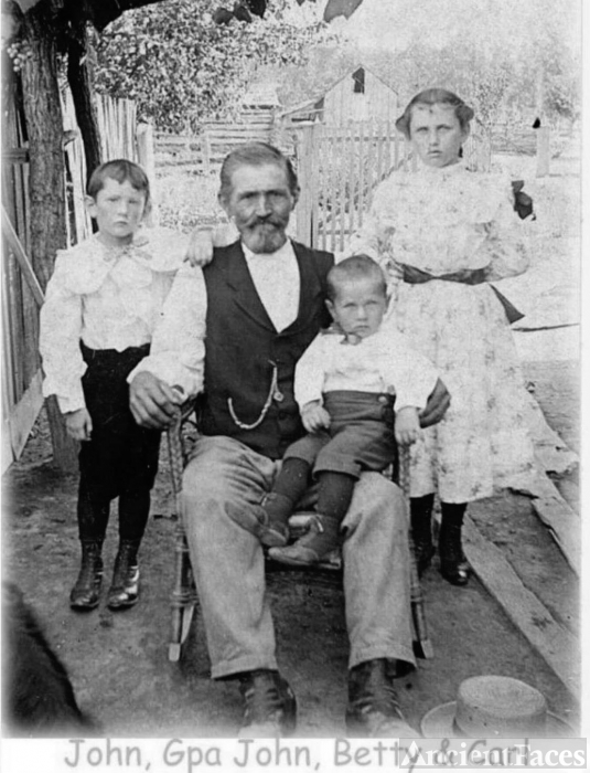 Great Great Grandfather John Weiland, Grandmother Elizabeth Kathyrn Weiland Sage and her brothers John & Carl,