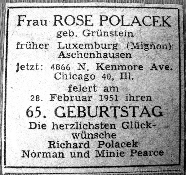 Rose Polacek document