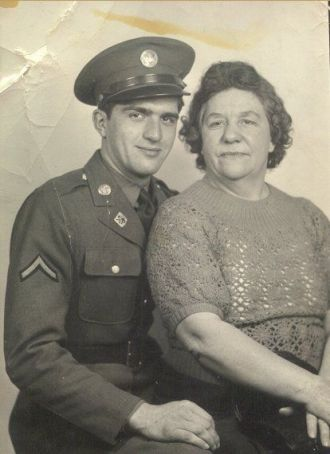 Private Jerome Wille and His Mom